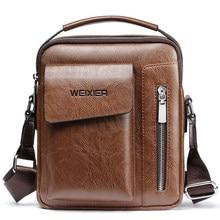 01de7db6e140 Винтажная сумка-мессенджер мужская сумка на плечо из искусственной кожи  сумки через плечо для мужчин