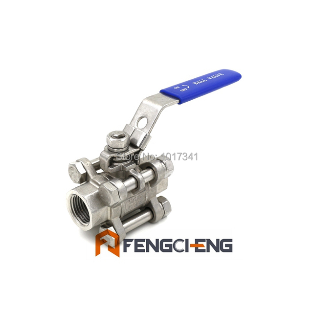 """New Stainless Steel 316 3-piece Ball Valve, 1/2""""NPT, Wholesale and Retail"""