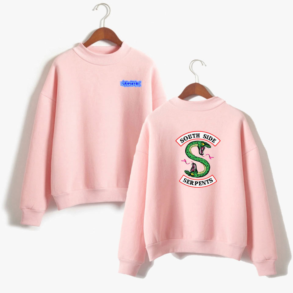 BTS Riverdale rosa de las mujeres y los hombres sudaderas con capucha de moda con capucha de manga larga sudadera ropa Casual del lado sur serpientes