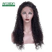 Бразильский странный вьющиеся Синтетические волосы на кружеве парики предварительно сорвал натуральный черный AirCabin Волосы remy парик с воло