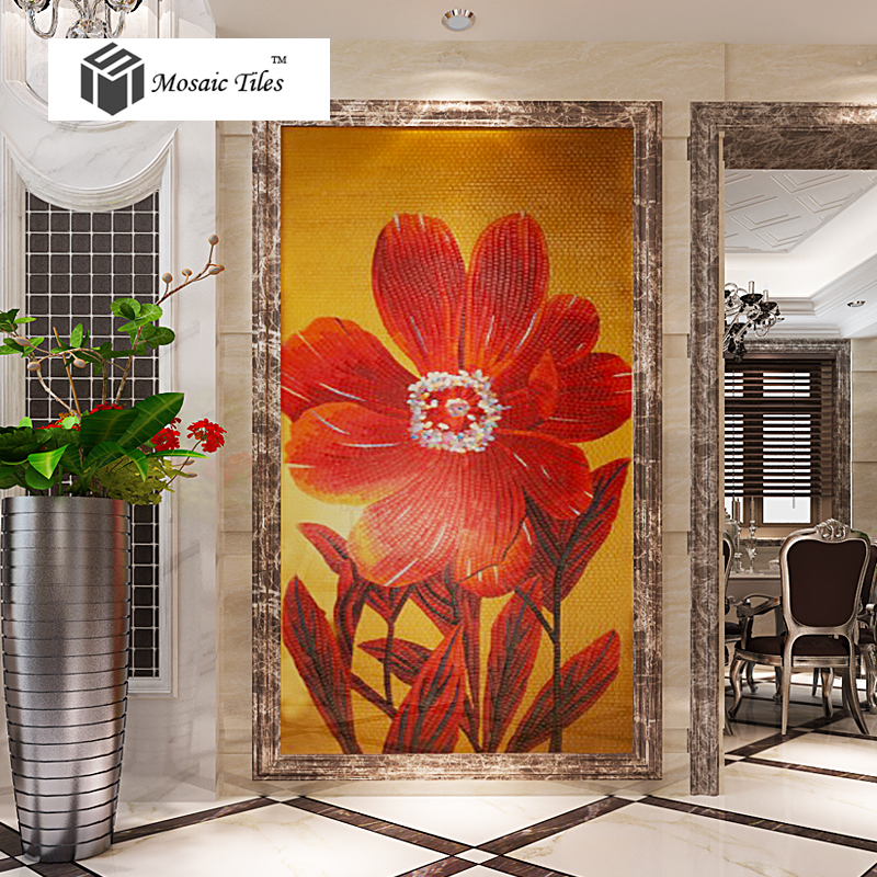 bisazza design new big red flower mosaic backsplash tile entryway living room wall unique home hotel customize art mosaic on aliexpresscom alibaba group