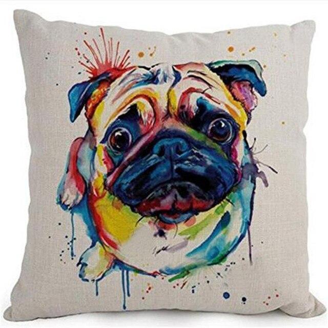 Del fumetto Adorabile Animale Domestico Cani Pug Coperture per Cuscini Coperte e
