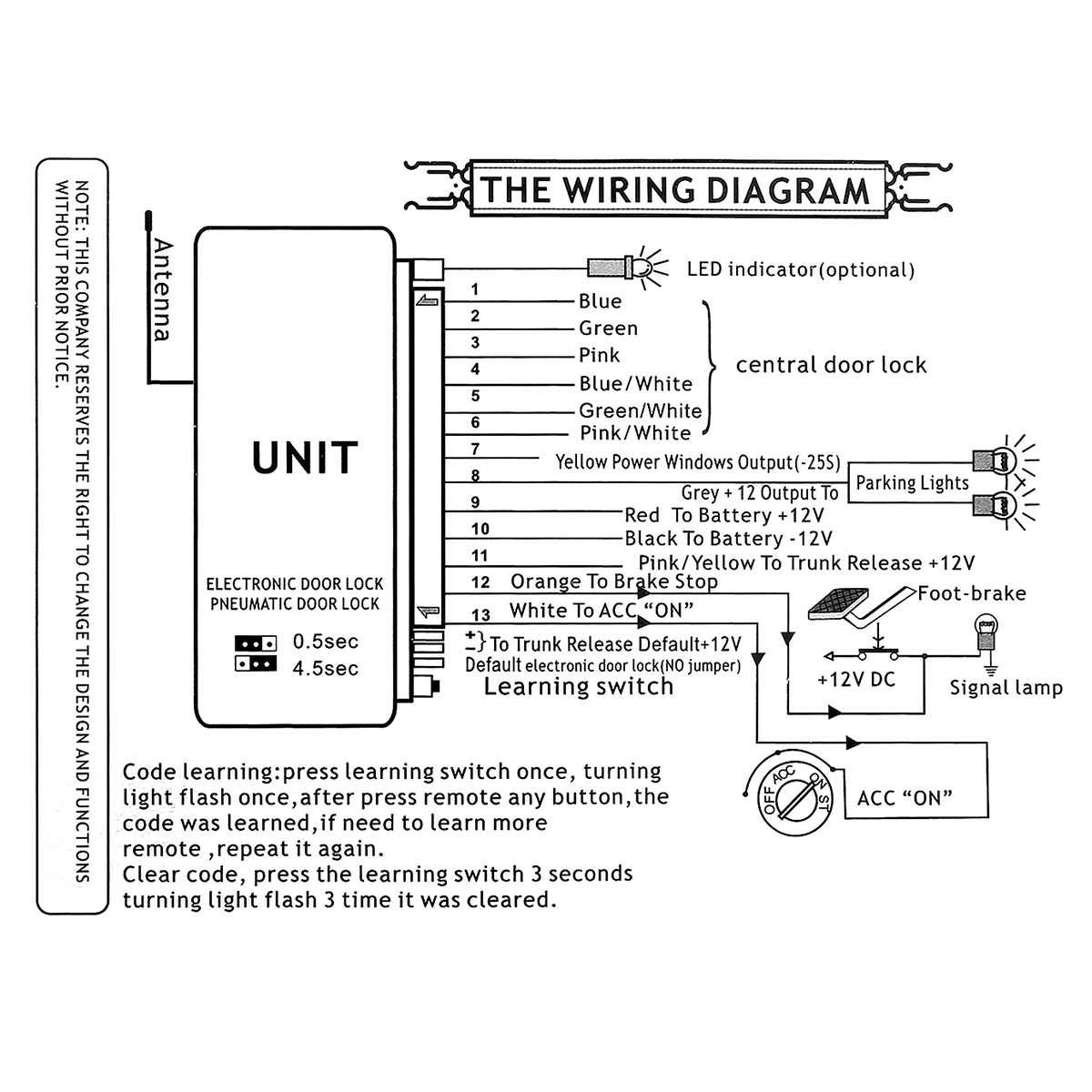 Universal Keyless Entry Wiring Diagram For Heat Pump Vw Polo 1998 Central Locking Library
