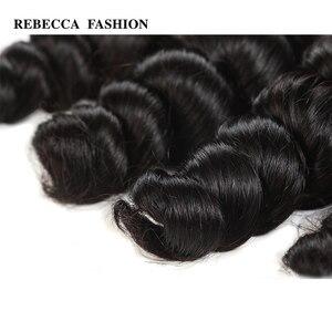 Image 5 - Rebecca Brazilian Loose Wave Bundles 8 30 Inch 1/3/4 Pcs 100% Human Hair Bundles Remy Hair Extensions