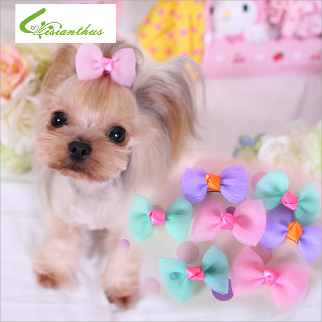 Dogs Hair Accessories Cute Pets Accessories  Dogs Hairpin Dog Grooming Cat Hair Clips Brand New DIY Hair Bows Free Shipping