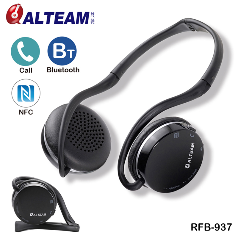 Portable Foldable Stereo Neckband Sport NFC Bluetooth Wireless Headphone Headset with Microphone for Mobile Phones Running Sport wireless bluetooth headset hbs500 sport portable 3d stereo headphone v4 1 bluetooth headphone neckband style for all phones