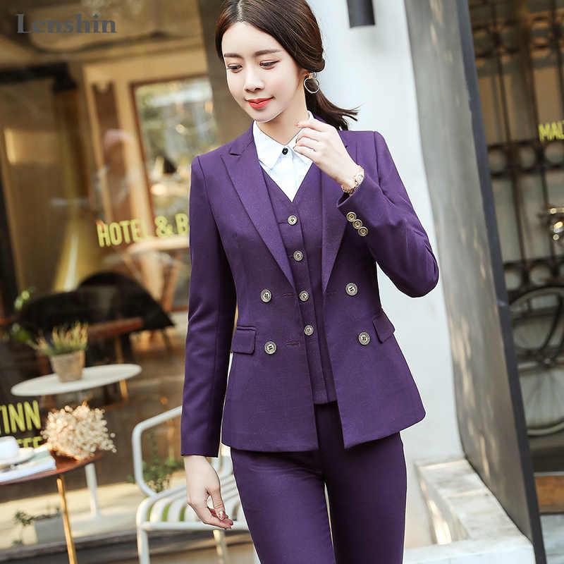 263c2ea0d4f5 Lenshin комплект из 3 предметов высокого качества жилет брюки костюмы  офисные ...