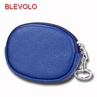 BLEVOLO брендовый кошелек 100% из натуральной кожи, кошельки для монет, мягкая молния для мужчин и женщин, маленький кошелек, миниатюрная сумка дл...