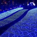 3*2 м 192 Светодиодов ЕС Plug Украшение свадьбы led чистые огни строки Многоцветный 8 Отображает net рождественские огни на открытом воздухе