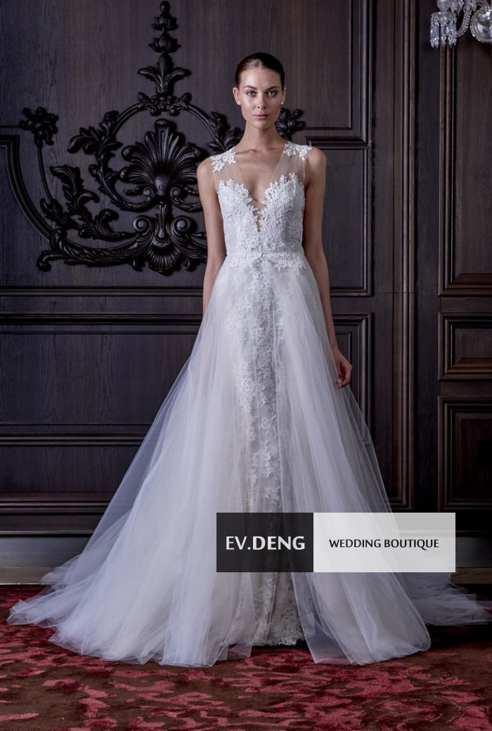 detachable skirt robe de mariage casamento vestido de noiva appliques a line lace wedding dress 2015 hot sale sexy Bridal Gown in Wedding Dresses from Weddings Events