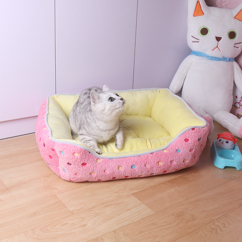 Venxuis Cashmere Soft Winter Pet Dog Mat Kennel Nest Autumn Warm Cotton Blanket House Pet Cat Cushions Dog Bed Pet Supply
