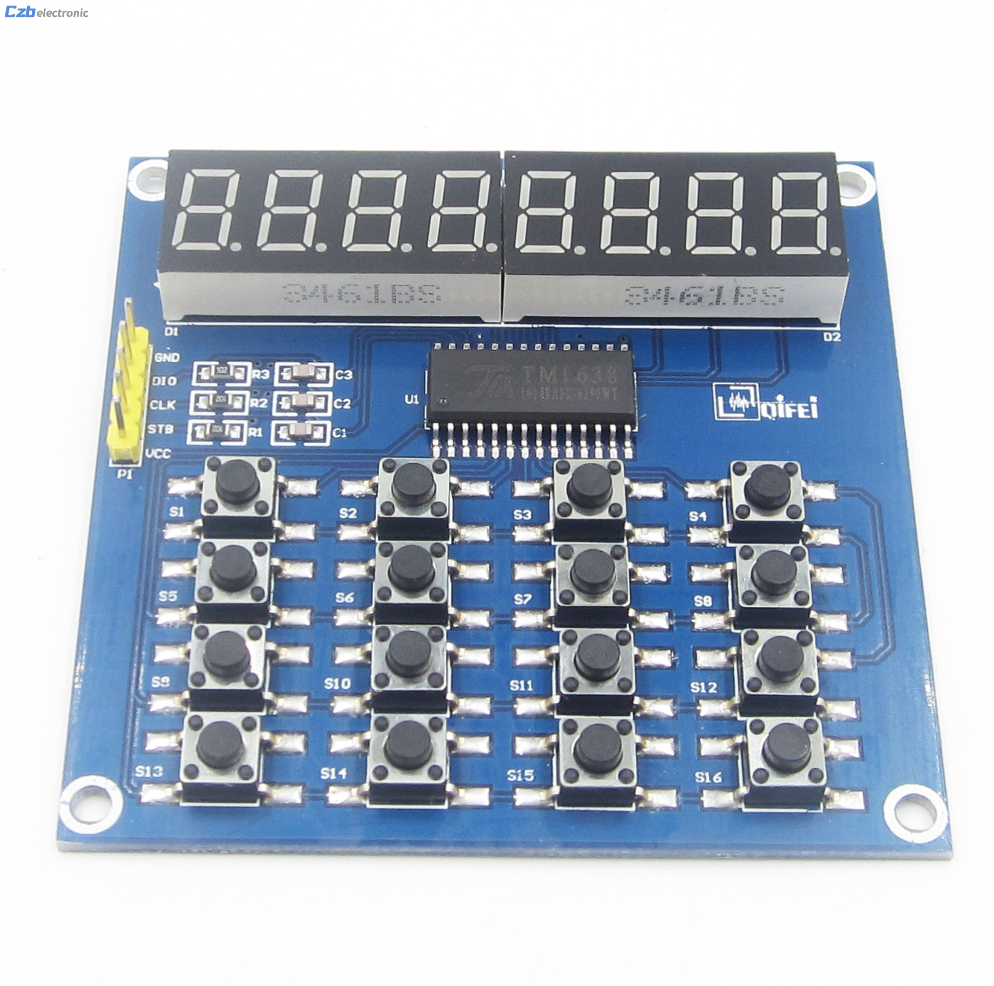 DIY Kit Parts TM1638 8 Bits LED Digital Tube Module Keyboard Scan and Key Display Module For Arduino