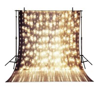 A String Of Festive Lights Backdrop High Grade Vinyl Cloth Computer Printed Wedding Photography Backgrounds