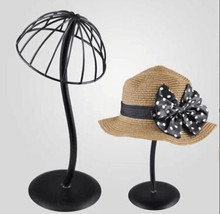 Wig Stands metal Hollow out Hat Display rack Head Holders Portable Stand Use cap For Styling Drying
