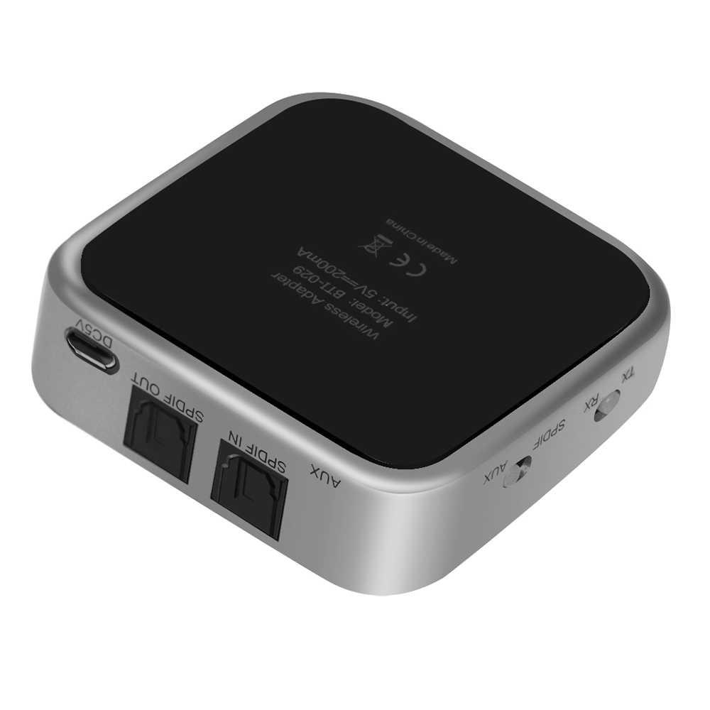2 w 1 Bluetooth 5.0 nadajnik bezprzewodowy odbiornik adapter audio stereo optyczne Toslink/SPDIF i Aux 3.5mm wsparcie aptx APT-X