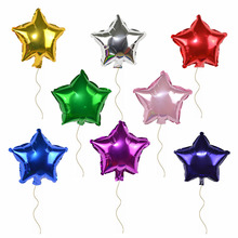 10inch 5P 25cm Small Foil Star Balloons Party Ballons For Festival Wedding Birthday Decorations Inflatable Helium Air Balloon