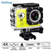 4 K 30PFS Câmera 16MP WI-FI 4 K 1080 P 60PFS 2 Polegada Action Camera 30 m IR cam Cam kamera pro Câmera Subaquática À Prova D' Água