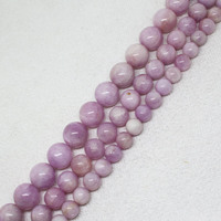 9mm 14mm Natural Madagascar Kunzite Smooth Round Stone DIY For Necklace Or Bracelet Making Loose Beads