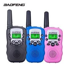 2 adet Baofeng mini telsiz çocuklar radyo taşınabilir 2W iki yönlü telsiz el çocuk alıcı oyuncaklar radyo hediye T3 BF T3
