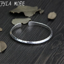 13g Small Antique Silver Bangle Women 925 Silver Cuff Bangles Simple Design Metal Thin Bangles Bracelets For Unisex joyeria