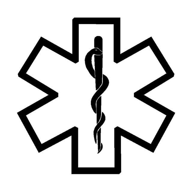 Hotmeini Medic Star Of Life Symbol Emt Car Window Sticker Vinyl