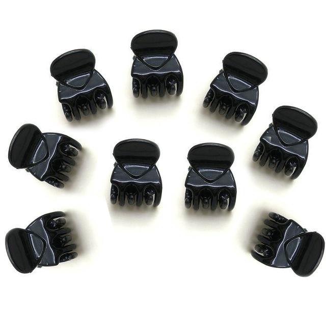 2017 New High Quality Hair Clip Clamp 12pcs Women Black Plastic Mini Hairpin 6 Claws Hair Clip Clamp