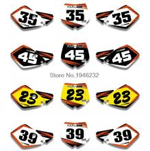 For KTM SX 65 2002 2003 2004 2005 2006 2007 2008 Custom Number Plate Backgrounds Graphics