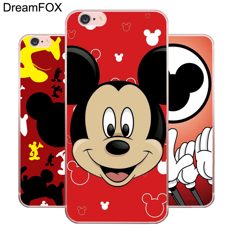 DREAMFOX L439 Mickey Mouse Minnie Pop Art Soft TPU Silicone Case Cover For Apple iPhone 8 X 7 6 6S Plus 5 5S SE 5C 4 4S