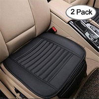 Breathable 2pc Car Interior Seat Cover Cushion Pad Mat for Auto Supplies Office Chair with PU Leather
