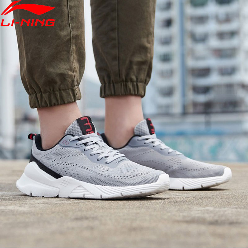 Li-Ning Men HEATHER 3 Classic Lifestyle Shoes Mono Yarn Breathable LiNing Li Ning Light Sport Shoes Sneakkers AGCP029 YXB296