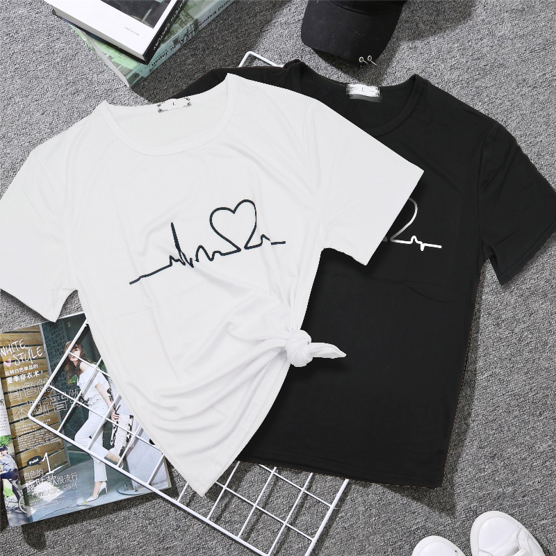 19 New Harajuku Love Printed Women T-shirts Casual Tee Tops Summer Short Sleeve Female T shirt for Women Clothing 13