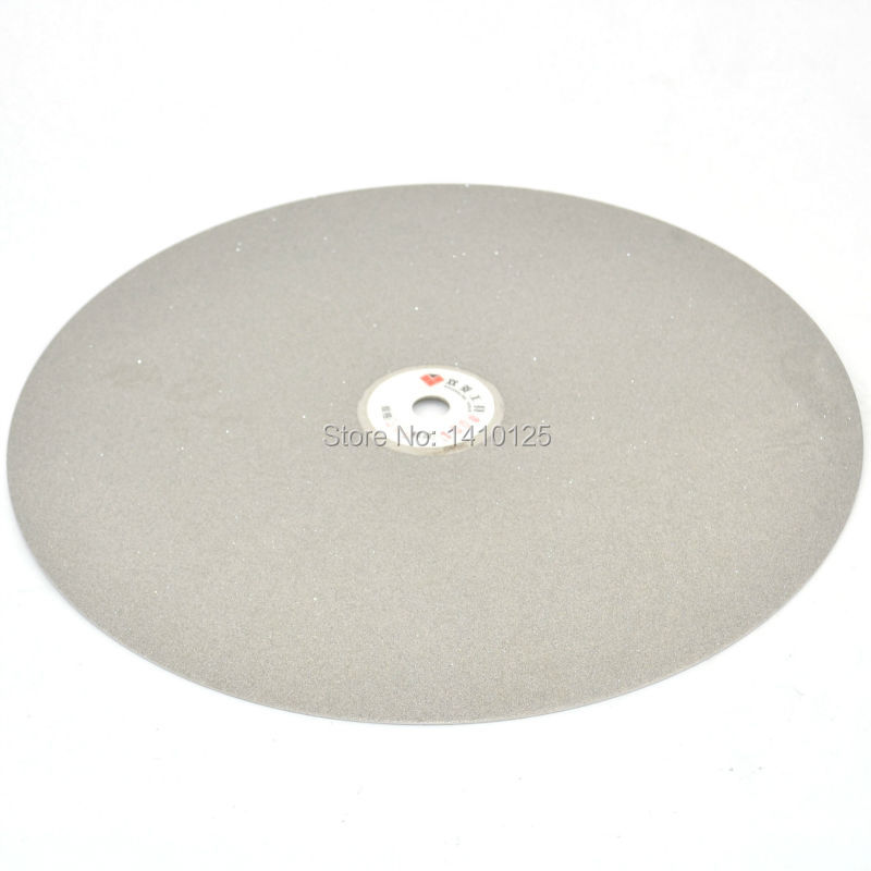 14 inch 350mm Grit 240 Medium Electroplated Diamond Coated Flat Lap Disk Grinding Disc Wheels Tools for Gem Stone Jewelry Glass imperforate 8 inch diamond grinding disc coated flat lap disk jewelry tools ilovetool