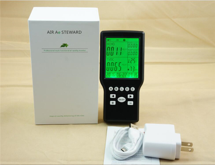 TVOC Formaldehyde Detector Air Quality Monitoring with Temperature   & Humidity Function az 7788 desktop co2 temperature humidity monitor data logger air quality detector