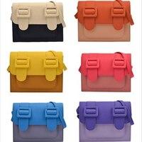 Crossbody Panelled Bag Trend Candy Color Bags For Women 2019 Shoulder Bag Hip Hop Bag Ins Leather Handbag Bolsa Feminina
