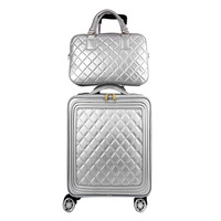 CARRYLOVE high quality fashion classic16/20/24 size 100%PU handbag and Rolling Luggage Spinner Travel Suitcase