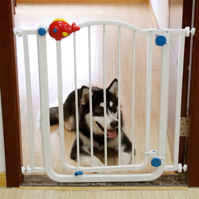 UK Fast Shipping Pet Gate Dog Puppy Security Isolation Door Steel Pipe High Quality Children Protect Fences Pet Supplier