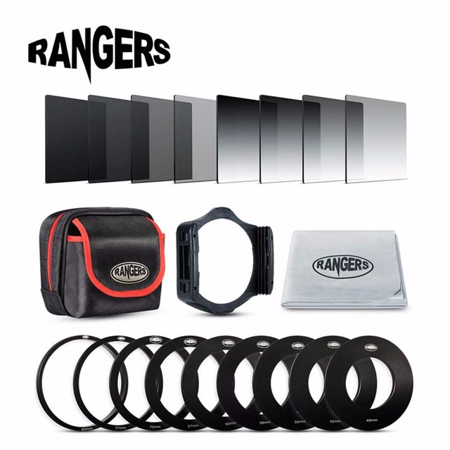Rangers 20 in1 Универсальный Градиент Постепенное Нейтральной Плотности ND Фильтр Комплект для Cokin P Серии Pro Комплект SLR DSLR Камеры Объектива RA014