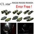 18 unids canbus sin error blanco Del Xenón para Lexus RX330 RX350 RX400h LED lámpara luz interior kit (2004-2009)