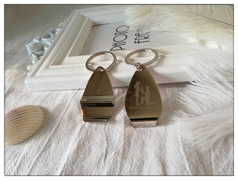 Personalised Wedding Gifts For Guests: 100pcs/lot Personalised Metal Keyring Keychain Beer Bottle