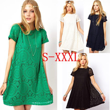 цена на Woman Lace Dress Black Red Summer Dresses 2015 Vintage Casual Dress Vestido Branco Vestidos De Renda Vestidos Femininos W00292