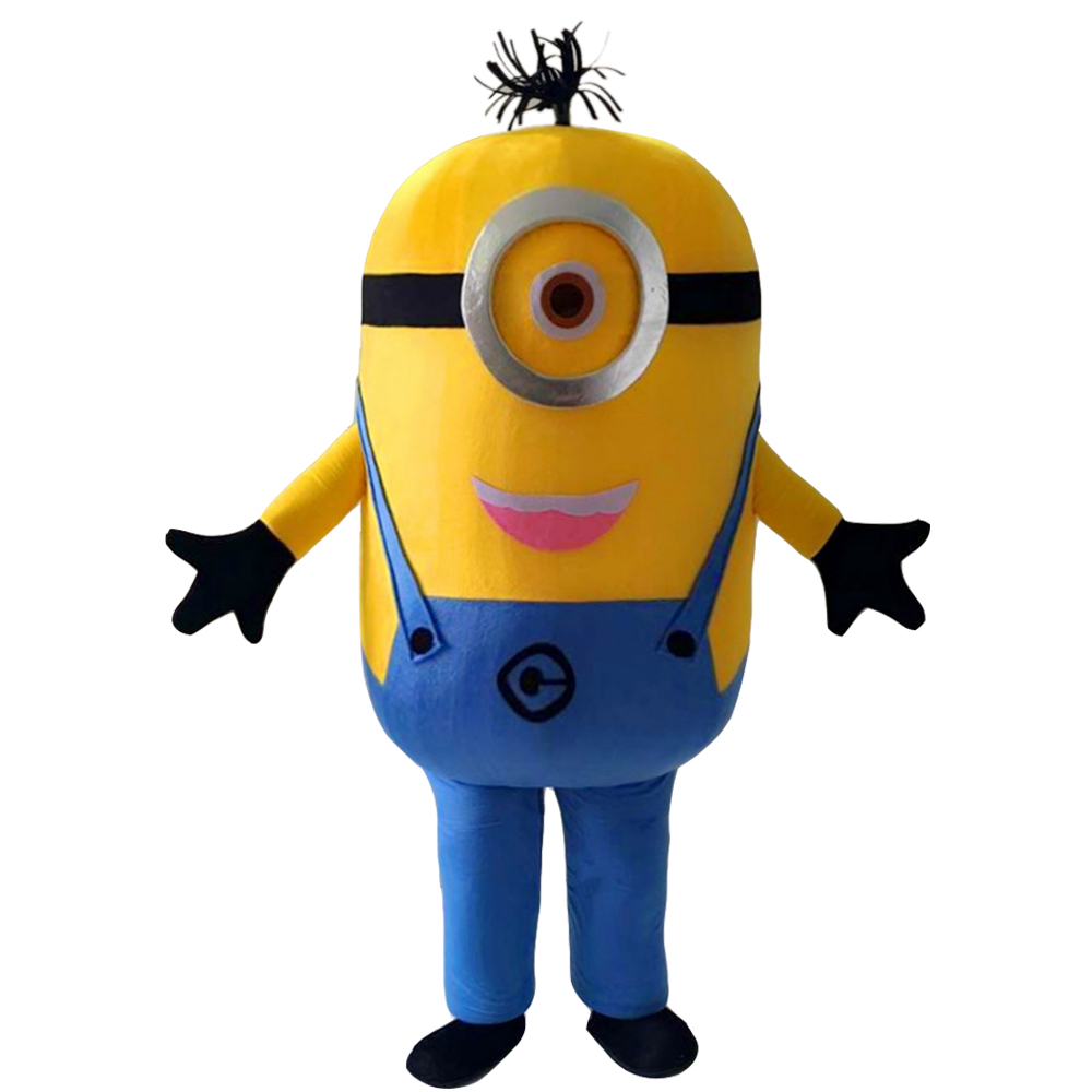 Cosplay costumes Minion mascotte Costumes fantaisie robe tenue adulte méprisable mascotte costume cadeau de noël