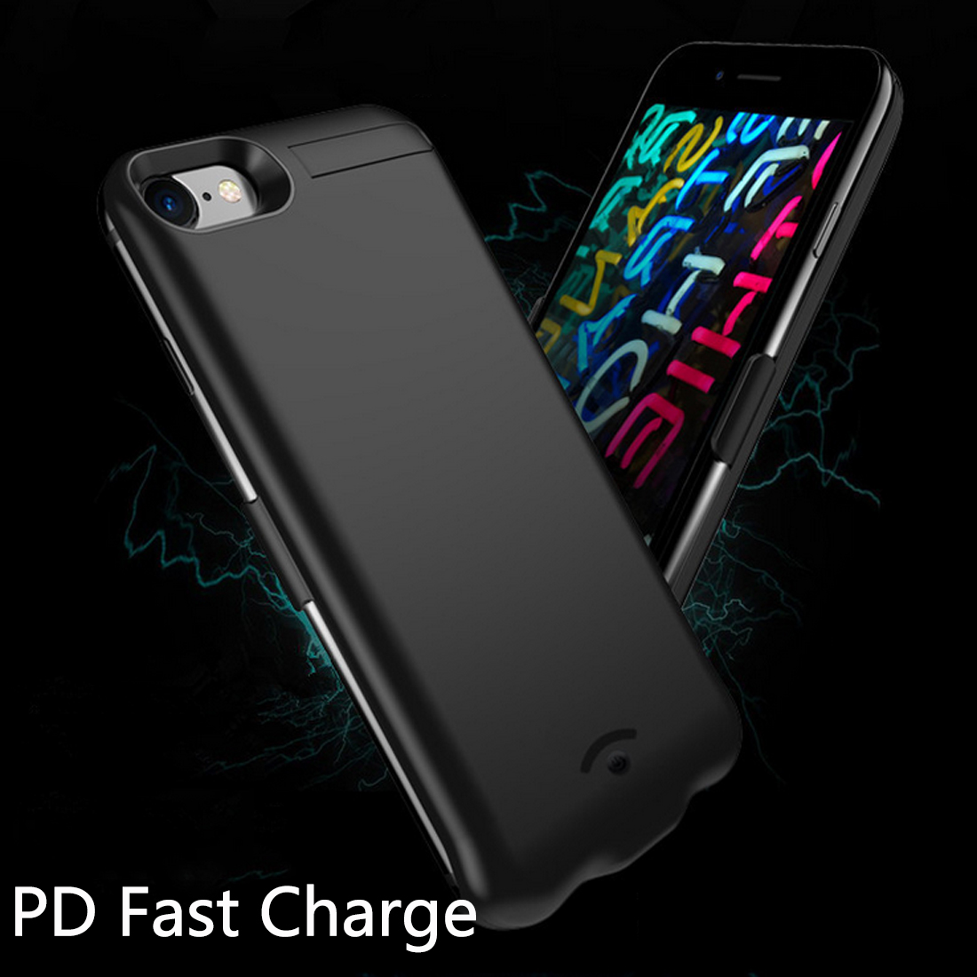 Portable External Power Bank Case 20000mAh Charger Case for iPhone 8 plus Backup Battery cover Kickstand Holder for iphone 7 8Portable External Power Bank Case 20000mAh Charger Case for iPhone 8 plus Backup Battery cover Kickstand Holder for iphone 7 8