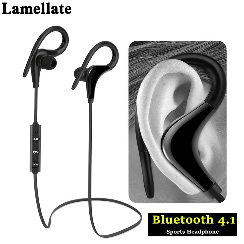 Lamellate Bluetooth Earphone Sport Running Wireless Headphones Sweatproof Stereo Headsets Music Earbuds With Mic for xiaomi sony image