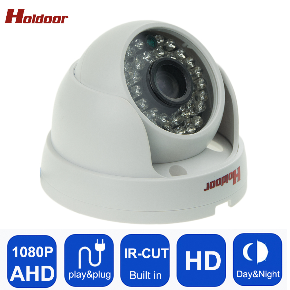 Holdoor Holdoor Security Dome Camera AHD Camera 1080P CCTV  AHD Camera HD 2MP 36Pcs Leds IR-Cut Night vision Indoo free shipping free shipping hot selling 720p 20m ir range plastic ir dome hd ahd camera wholesale and retail