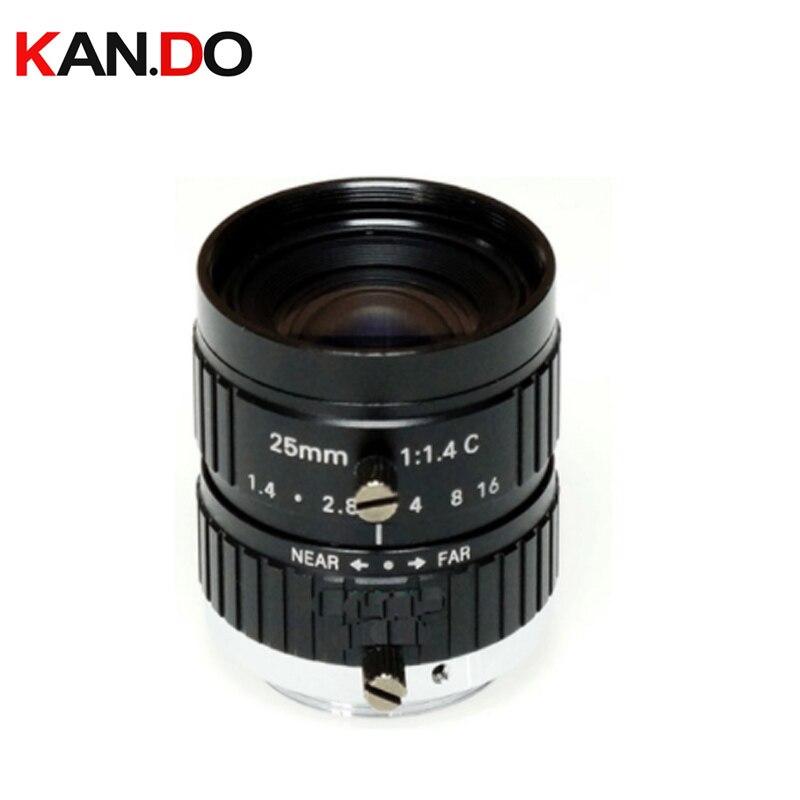 HD 10MP CCTV Lens 25mm 10Megalpixel C Mount Manual Iris Focus F1.4 Aperture 1 Security IP Camera Industrial Lens
