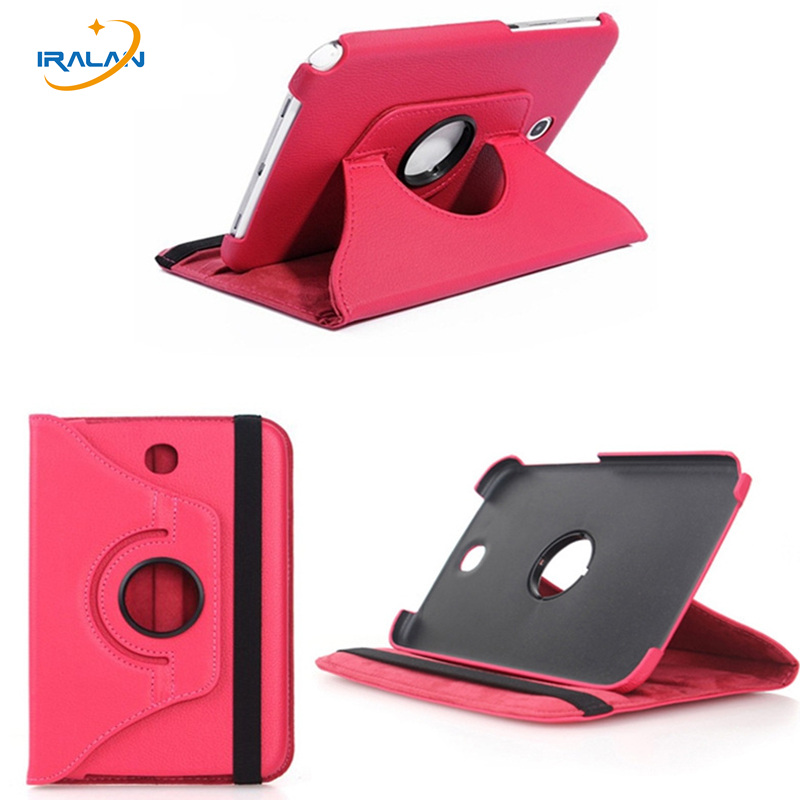 2018 Hot 360 Degree Rotating PU Leather Case For Samsung Galaxy Note 8.0 N5100 N5110 N5120 8 inch Tablet pc Protective Cover protective cord pull pu leather case pouch bag for samsung galaxy note 3 n9000 red