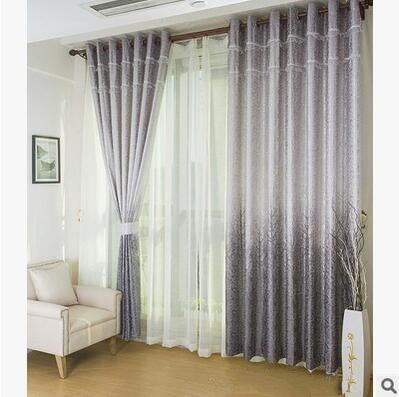 European style living room bedroom gold jacquard curtain trees - Home Textile - Photo 2