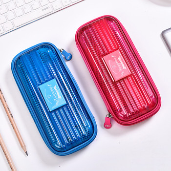 summer cool Primary School Pupils'pencil Bag Deli Pencil Bag Stationery Large Capacity Pencil Cases For Girls Cute Pencilcase secret garden defence fall sketch color pencil cases for girls bag will capacity stationery case beautiful fine arts wj hd24