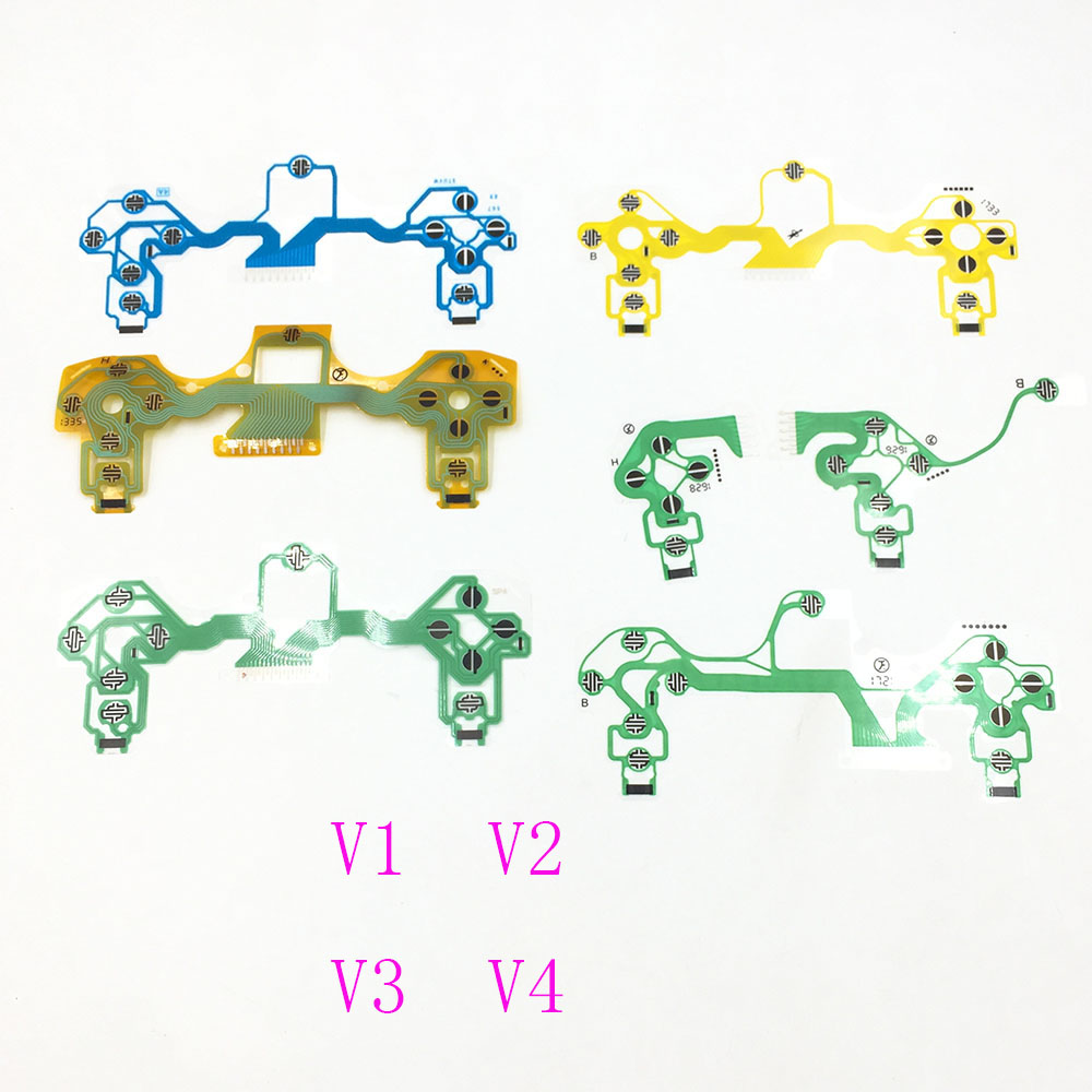 New V1 V2 V3 V4  V5 001 011 030 040 Button Ribbon Circuit Board Film For PS4 Controller For Dualshock 4