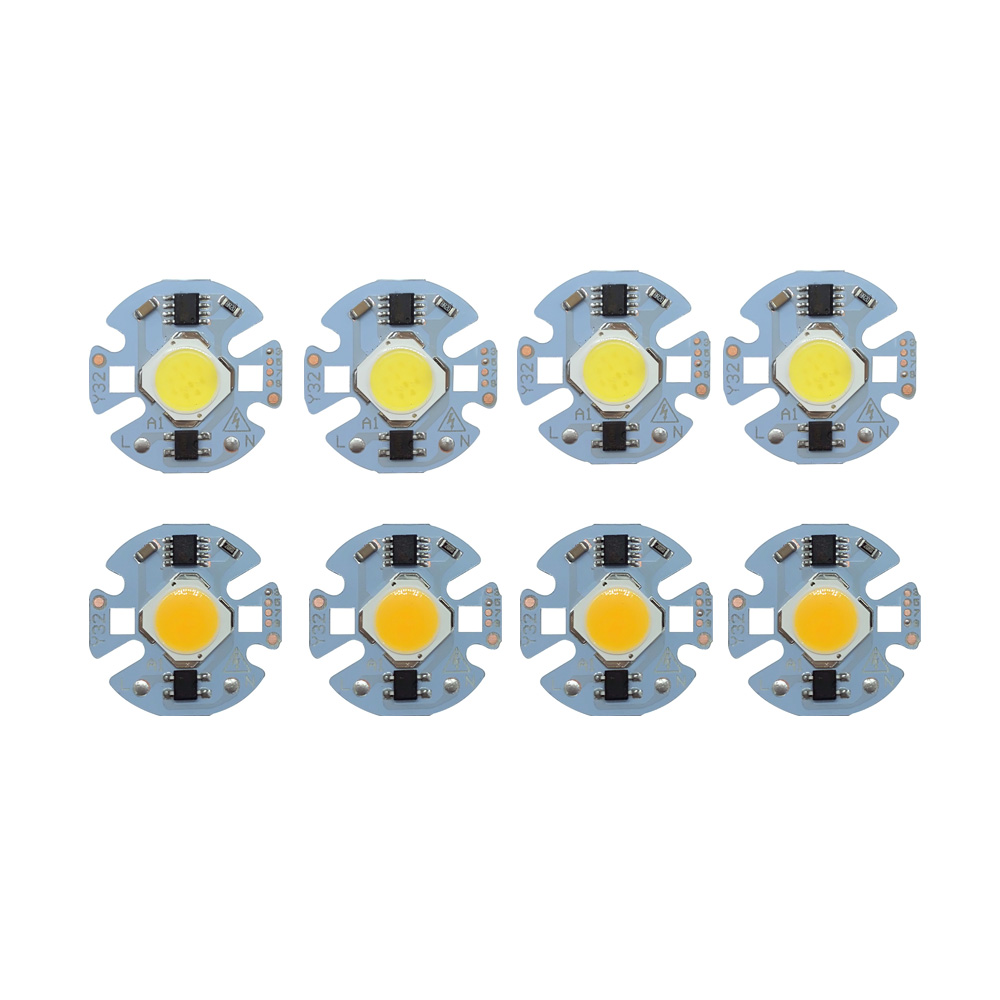 5pcs/lot LED Lamp COB Chip 9W 7W 5W 3W Real Power 220V Input Smart IC DIY For Spotlight Floodlight Cold White Warm White 5pcs lot ic k9gag08u0e k9gag08uoe scbo k9gag08u0e scb0